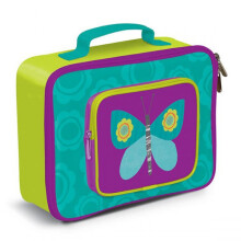Crocodile Creek Lunch Box - Purple Green Butterfly