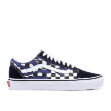 VANS Ua Old Skool - (Checker Flame) Navy/True White