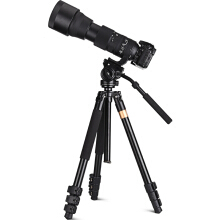 Q640 Photography Tool Three Way Head Tripod  - Black