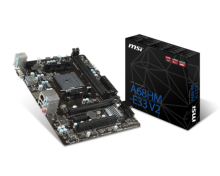 MSI Motherboard A68HM E33 V2 Black
