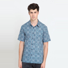A&D Ms 1258 Batik Short Sleeve - Blue