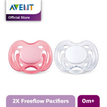 AVENT SCF178/23 Soother 0-6m Twin Free Flow - Pink & White