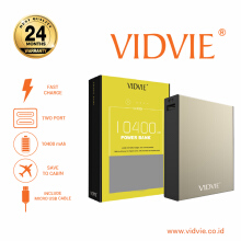 VIDVIE Powerbank PB704 10400 mAh / Battery Charger / Pengisi Daya