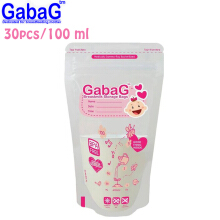 Gabag Breast Milk Storage - Kantong ASI 100 ml Isi 30 Pcs (Pink)