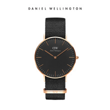 Daniel Wellington Classic Black Nato Watch Cornwall Black Black 36mm
