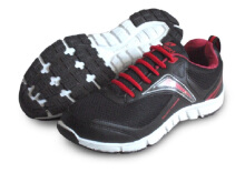 RECORD Motionflex Running Shoes - Hitam Merah