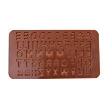 [COZIME] Letter Soap Ice Cube Chocolate Candy Soap Silicone Mold Cake Decoration Pan Brown