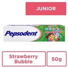 PEPSODENT Pasta Gigi Pepsodent Junior Strawberry Bubble 50gr
