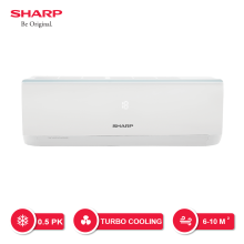SHARP AC 1/2 PK - AH-A5UCY [Indoor + Outdoor Unit Only]