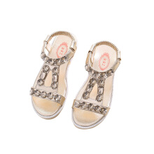 SiYing Soft bottom non-slip children's sandals rhinestone girls shoes