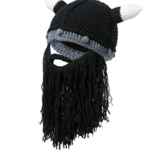 cow horn hat big beard trick creative men and women hair hats trade Halloween black LZ096