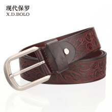 X.D.BOLO Original imported fashion men's belt 2018 new luxury leather alloy pin buckle belt