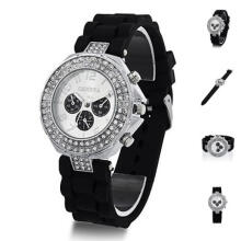 Farfi Geneva Silicone Band Arabic Numerals Display Quartz Ladies Wrist Watch Gift