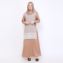 NAFEESA Varisha Dress Brown Allsize Brown All Size