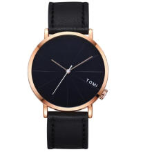 PEKY Casual Men 's Bussines Leather Round Watch simple fashion watch man clock men dames horloge