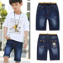 Farfi Kids Children Boys Summer Fashion Elastic Denim Shorts Pants Jeans with Pockets