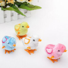 [kingstore] Cute Little Toy Stuffed Chicken Chain Clockwork Chick Chicken Kids Toys Multicolor