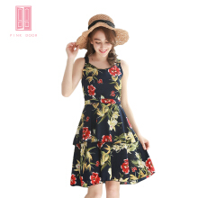 Pink Door Tropical Flower Dress -Navy Blue Navy Blue All Size