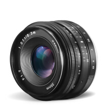 Aosen CRAPHY 35mm f/1.7 Manual Focus Prime Camera Lenses for Sony Black