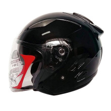 KYT Galaxy Slide - Helm Half Face - Black Glossy