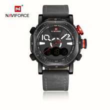 Naviforce LED Digital Analog Electronic Quartz Watches Waterproof Male Clock Relogio Masculino Calendar  Watches
