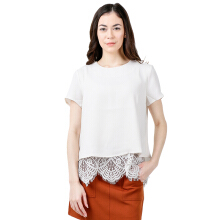 THE EXECUTIVE Women  5-BSWSIG118C004 Blouse -Off White