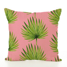 Jantens 45 * 45cm pink cushion cover linen pillowcase home sofa chair car decoration containing core