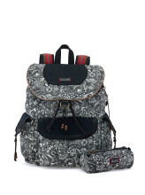 Sakroots Flap Backpack Black & White Spirit Desert