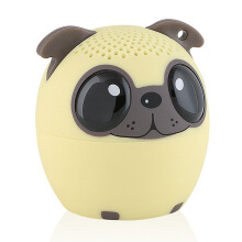 Keymao Mini Bluetooth Animal Wireless Speaker with Stereo Technology Pup Light Brown