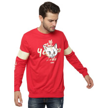 SIDEWAYS Yubitsume Neko Sweater - Red