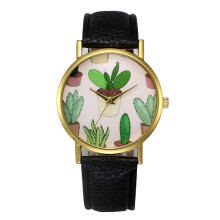 PEKY Plant Bonsai Casual Ladies Belt Watch Cactus Flowerpot Student Watch Quartz Watch
