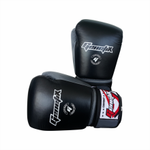 GENETIX Boxing Gloves COMBAT Leather GBG4L BlackGrey