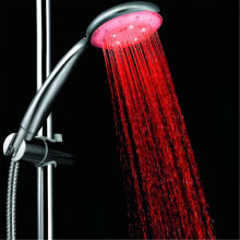 [OUTAD] Fashionable Handheld Colorful Shower Head Home Bathroom 7 Colors Changing Silver