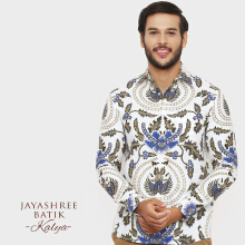 JAYASHREE BATIK Slim Fit Long Sleeve Kalya - Beige