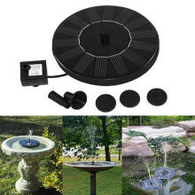 Farfi Mini Solar Power Water Floating Fountain Pump Pool Garden Outdoor Decoration as the pictures