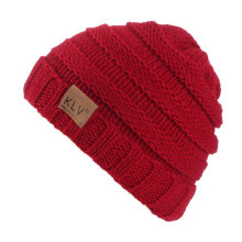 children Winter Elastic Knitting Hat Beanie Skull Cap Warm Sport Skiing Cap LZ167