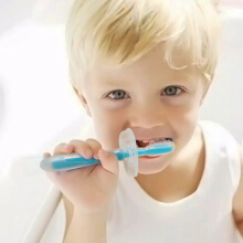 cute baby sikat gigi bayi baby silicone high quality baba loves toothbrush - biru