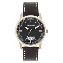 Police PL.15288JSR/02 Men Black Dial Dark Brown Leather Strap [PL.15288JSR/02]