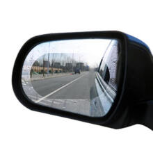 Farfi Rainproof Car Rearview Mirror Film Sticker Anti-fog Coating Protective Cover Oval