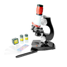Kids Biological Science Microscope 1200X Zoom Educational Toy for Children Black