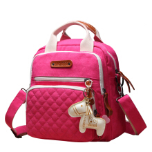 Jantens Multi-function Mommy pregnant women bag baby diaper bag waterproof baby backpack care bag rose red