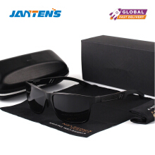 Jantens Men Polarized Sunglasses Aluminum Magnesium Sun Glasses Driving Glasses Rectangle Shades