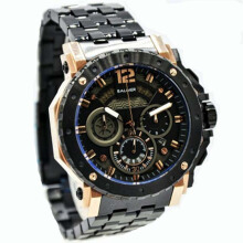 Balmer Jam Tangan Pria - D48BLM7935MH970HTRSG Stainless Steel - Chronograph - Hitam Rosegold Black RoseGold