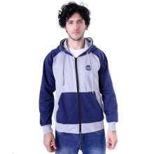 G-SHOP - MEN SWEATER JAKET HOODIES DISTRO PRIA - GUM 1279 - ABU SIZE- M