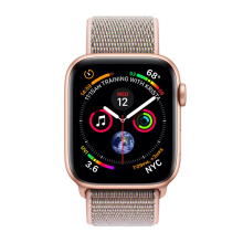 Apple Watch Series 4 GPS 44mm MU6G2 Gold Aluminum Case with Pink Sand Sport Loop
