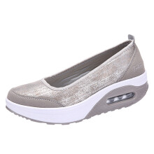 BESSKY Fashion Women Air cushion Platform Shoes Shake Shoes Slip Sport Sneakers _