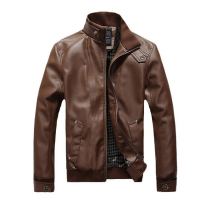 MMIOT Man Leather Leather Jacket Slim motorcycle Outwear