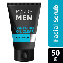 POND'S Men Lightning Oil Clear Facial Scrub 50gr