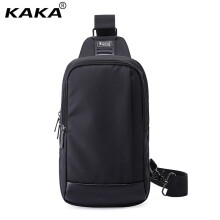 KAKA brand unisex waterproof Messenger bag 9.7 inch Ipad chest bag men and women anti-theft Messenger bag black