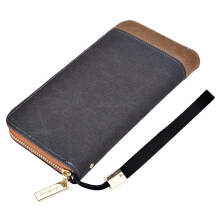 Fashionmall Mens' Canvas Zipper Wallet Men Clutch Hand Bag Fashion Clutch Purse